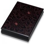 手許箱 黒 牡丹彫