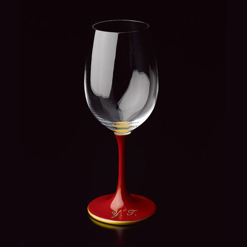 JAPAN Glass 朱漆 天縁金蒔絵