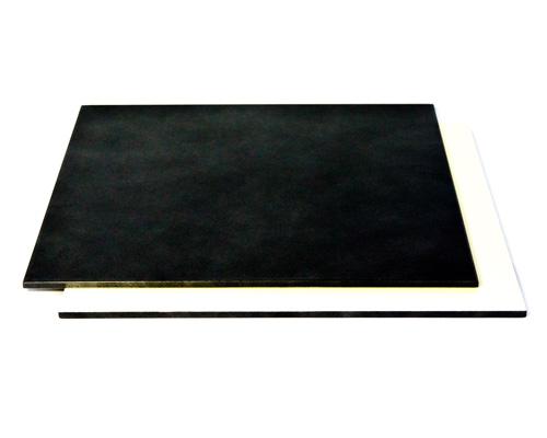 リバーシブル折敷 ホワイトシルバー/ブラックシルバー