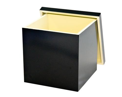 正角ジョイントボックス 黒内白 M