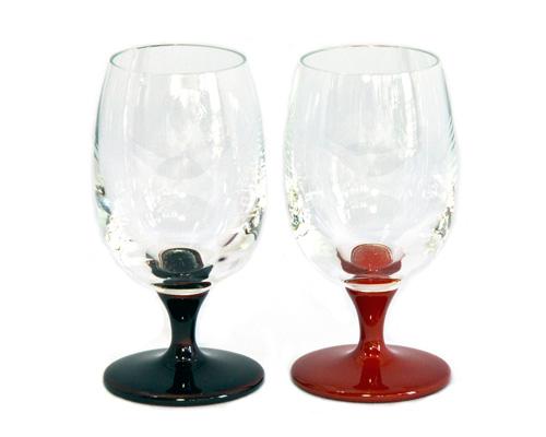 JAPAN Glass しずく ペア (朱/溜)