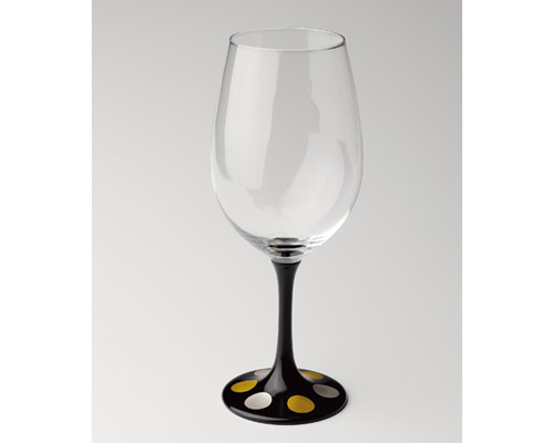 JAPAN Glass 黒漆 日月蒔絵